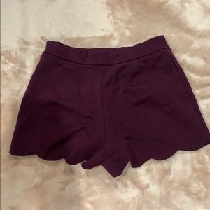 Urban Outfitters Shorts - Plum scalloped shorts